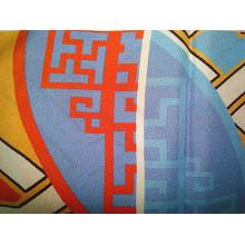 Impressão de seda Brocade Satin Stretch Fabric