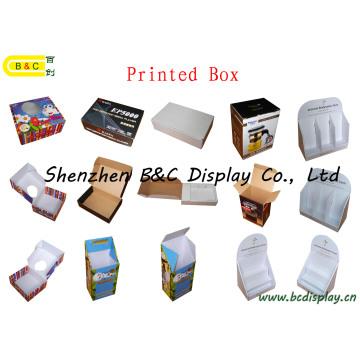La production de divers types de boîtes imprimées de classe, boîte cadeau, boîte en couleur ondulée (B & C-I020)