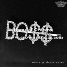 "Fashion Crystal Letter ""BOSS"" Hair Clips"