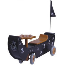 Wooden Walk Pirate/Kid Wood Toy/ Children Wooden Walker