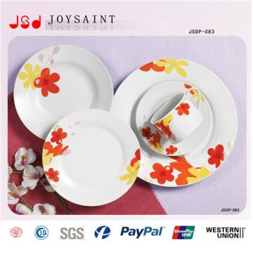 Diseño pintado a mano de la placa de cena de la porcelana 18PCS