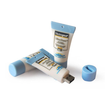 Pâte dentifrice personnalisée en caoutchouc PVC USB Pen Drive