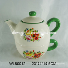 Ceramic coffee pot with cup
