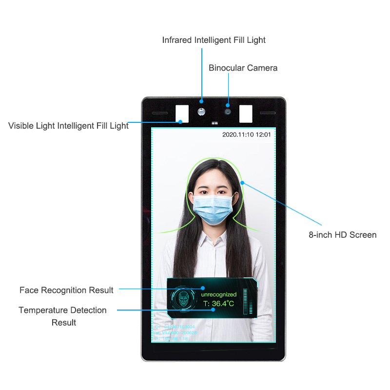 AI Face Recognition Thermometer