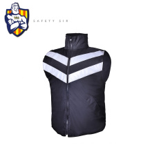CE EN20471 polyester safety jacket, 300D black water proof fabric and Zip Fasten,PMS colour fabric and logo can be customized