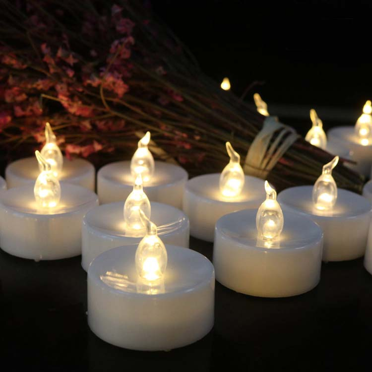 Flameless Unscented LED Tealight Candles