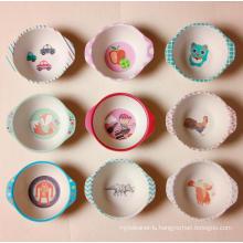 (BC-BP1009) Hot-Sell Bamboo Fiber Tableware Baby Bowl with Print