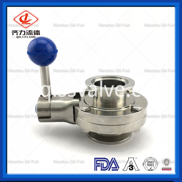 Sanitary Stainless Steel Butterfly Valve 3
