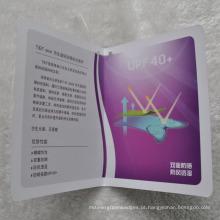 Moda Folded Paper Hang Tag para Vestuário / Bagagem