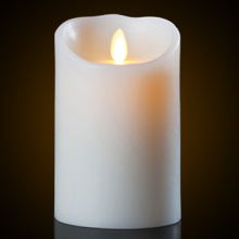 Timer Function Flickering moving wick flameless candles with remtoe