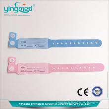 Bracelet jetable d'identification du patient