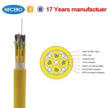 LSZH chaqueta G652D cable de distribución óptica de fibra de 48 hilos