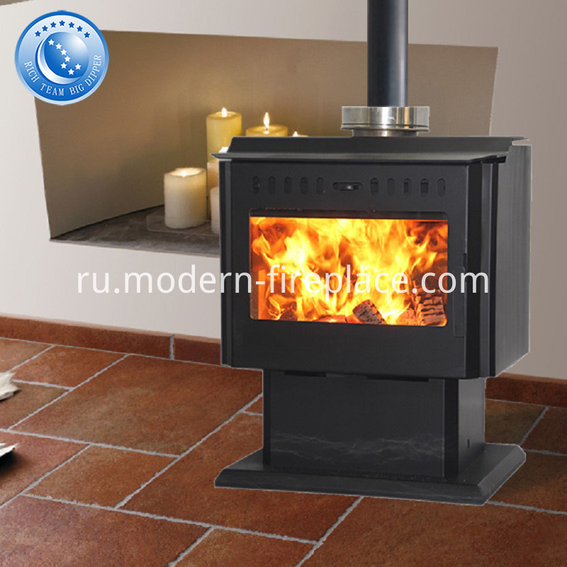 Contemporary Wood Burning Stoves Steel Plate