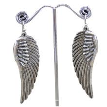 China fabricante, 2014 moda brinco de aço inoxidável com asas de anjo, mulheres brinco