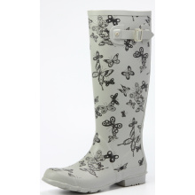 Butterfly Printing Rubber Rain Boots For Women