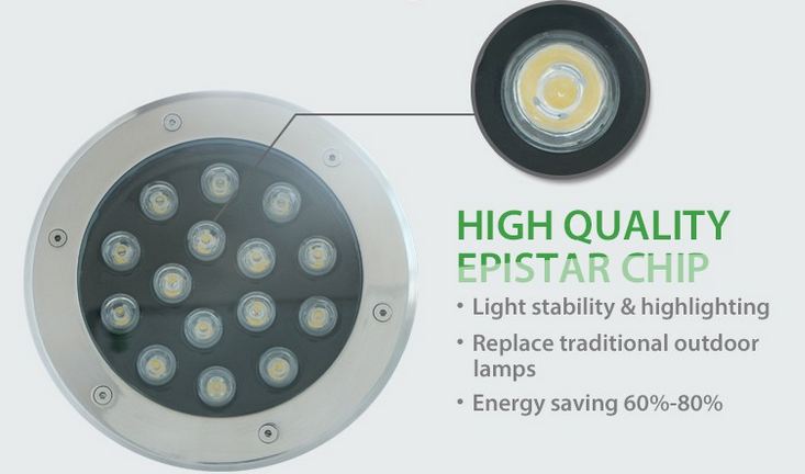 RGB led underground light