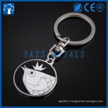 Porte-clés en métal personnalisée, chaîne à clé en métal personnalisée
