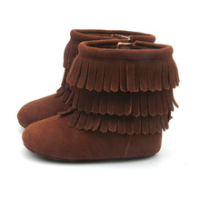 Wholesale Quality Genuine Leather Three Tassels Boots