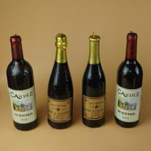 Bougies en forme de bouteille de vin rouge pour la décoration