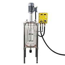 5L Sand Core Filtration three layer glass reactor With baffle