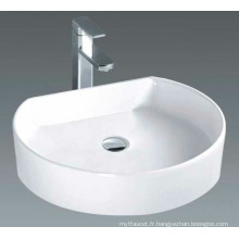 Bassin de salle de bain à comptoir solide brillant (7088)