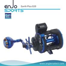 Angler Select Earth Plus Trolling Reel 3 + 1 Bb / Direito Reel de pesca para água salgada e água doce (Earth Plus 020)