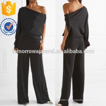 One-Schulter Crepe De Chine Jumpsuit Herstellung Großhandel Mode Frauen Bekleidung (TA30012J)