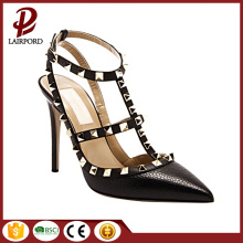 Newest style LADY sexy rivet sharp sandals