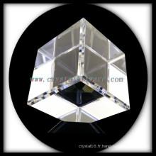 K9 Blanc de haute qualité coupe coin cristal Cube