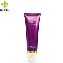 clair tube cosmétique couleur pourpre impression en plastique emballage tube