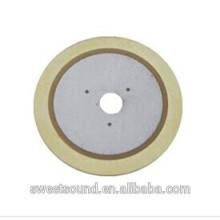 Usine de dongguan pzt piezo céramique 2.0khz éléments piézocéramiques
