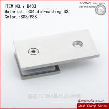 Fabricado en China accesorios de vidrio - 304SS 180 grados de pared a la abrazadera de vidrio