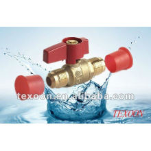 Standard port brass gas ball valves with flare ends Approved by CSA and UL