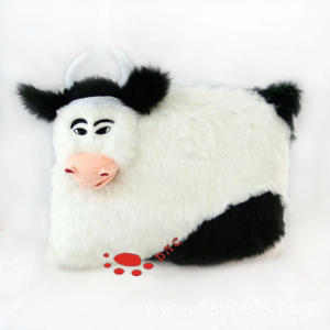 plush emulational cow cushion