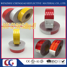 Personalizado Impreso Blanco 6 '' y Rojo 6 '' DOT C2 Conspicuity Adhesivo Seguridad de Tráfico Cinta Reflectante