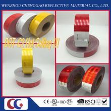 La coutume a imprimé le blanc 6 '' et rouge 6 '' POINT C2 bande adhésive de sécurité de sécurité de bande adhésive de sécurité