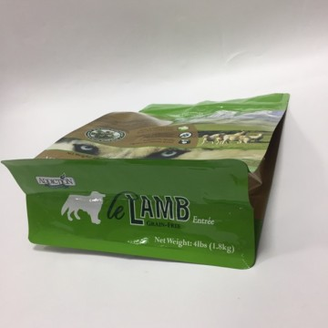 Flat Bottom Pet Food Bag med dragkedja