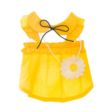 Summer Thin Cute Puppy Clothes Spring and Autumn Princess Small Dog Teddy Pet Cat Vest Skirt