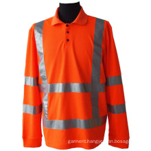 High visibility pique mesh polo shirt