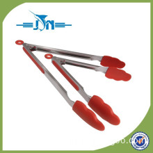 Plastic kitchen tongs and stainless steel silicone cooking utensils set of 2