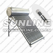 Edelstahl (oder galvanisierter Stahl) 200L Heimnutzung integriertes, nicht druckbeaufschlagtes Rohr Solarenergie-Warmwasser-System w
