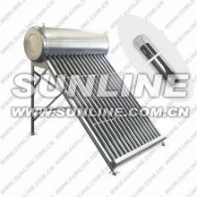 Acero inoxidable (o acero galvanizado) 200L uso doméstico integrado no presurizado tubo evacuado Sistema de calentador de agua de energía solar w