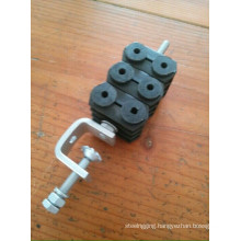 Power and Fiber Optic Feeder Cable Clamp