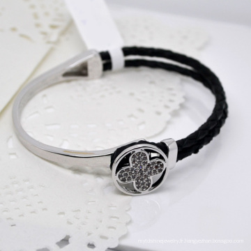 Vente chaude Bracelets en cuir Bracelets de mode strass # 31476