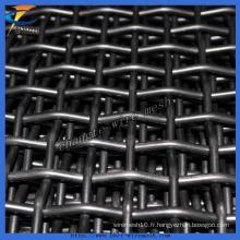 Maille métallique crêpée d'acier inoxydable d'usine de la Chine