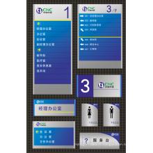 Signe de répertoire coloré et plaque pour système dictionnel