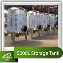 Réservoir de stockage 5000L en acier inoxydable