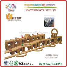 Grandes bloques de construcción de madera natural Juguetes ecológicos