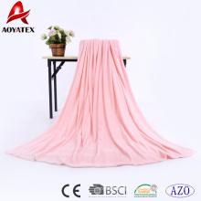 100% poliéster flanela cobertor de lã quente, super macio cobertor de lã de flanela com franjas, flanela de poliéster cobertor de lã china