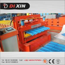 Dx 1100 Colored Glazed Steel Roof Tile Roll formando a máquina